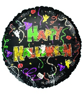 "18"" Happy Halloween Ghosts Foil Balloon"