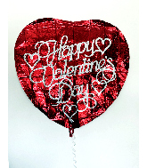 "36"" Happy Valentines Day Red Heart Foil Balloon"