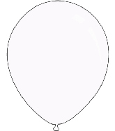 "36"" Standard White Decomex Latex Balloons (5 Per Bag)"