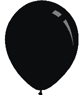 "18"" Standard Black Decomex Latex Balloons (25 Per Bag)"