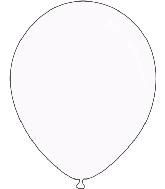 "9"" Metallic White Decomex Latex Balloons (100 Per Bag)"