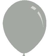 "9"" Metallic Silver Decomex Latex Balloons (100 Per Bag)"