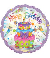 "24"" Happy Birthday Cake Foil Balloon"