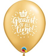 """11"""" Gold (50 Per Bag) The Greatest Of All Time Latex Balloons"""