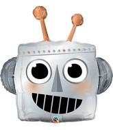 "35"" Robot Head Foil Balloon"