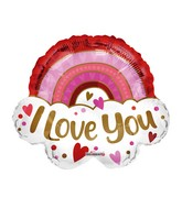 "18"" Love You Rainbow Foil Balloon"