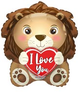 "18"" I Love You Lion Foil Balloon"