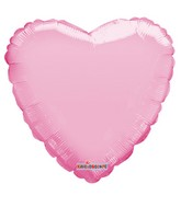 "18"" Solid Pale Pink Macaron Heart Gellibean Foil Balloon"