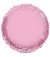 """18"""" Solid Pale Pink Macaron Round Gellibean Foil Balloon"""