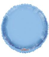 "18"" Solid Pale Blue Macaron Round Gellibean Foil Balloon"