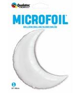 """35"""" Crescent Moon Silver Plain Foil Foil Balloon"""