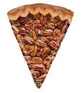 """34"""" Mighty Bright Shape Mighty Pecan Pie Foil Balloon"""