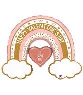 "40"" Rose Gold Valentine Rainbow Foil Balloon"