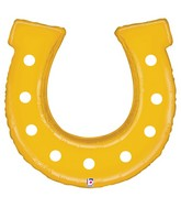 "38"" Golden Horseshoe Foil Balloon"