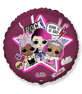 "18"" Round LOL Surprise Star Foil Balloon"
