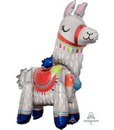 """23"""" Airfill Only Multi-Balloon Consumer Inflatable Standing Llama Foil Balloon"""