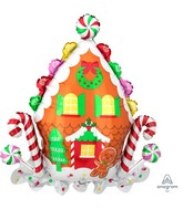 "30"" SuperShape Gingerbread House Foil Balloon"