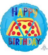 "18"" Pizza Happy Birthday Foil Balloon"