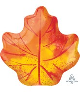 "21"" Fall Maple Leaf Foil Balloon"