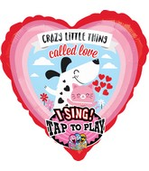 "29"" Sing-A-Tune Crazy Love Foil Balloon"