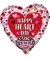 "29"" Sing-A-Tune Happy Heart Day Hearts Foil Balloon"