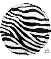 "18"" Zebra Print Animalz Foil Balloon"