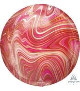 """16"""" Orbz Marblez Orbz Red & Pink Foil Balloon"""