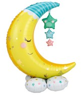 Airfill Only Airloonz Consumer Inflatable Moon and Stars Foil Balloon