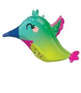 "25"" Colorful Hummingbird Foil Balloon"
