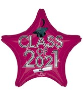 "18"" Class of 2021 - Berry Foil Balloon"