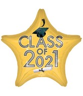 "18"" Class of 2021 - Gold Foil Balloon"