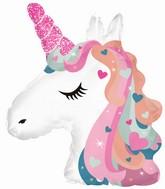 "24"" Unicorn Head Foil Balloon"