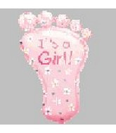 Airfill Only It's a Girl Foot Mini Shape