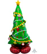 Airfill Only Airloonz Consumer Inflatable Christmas Tree Greeter Foil Balloon