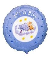 "18"" It's A Boy Roly Bear Foil Balloon"
