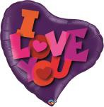 "38"" I Love You Contempo Heart Mylar Balloon"