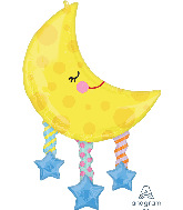 "38"" SuperShape Moon and Stars Foil Balloon"