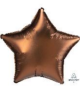 """18"""" Satin Luxe Cocoa Star Foil Balloon"""