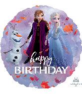 "18"" Frozen 2 Happy Birthday Foil Balloon"