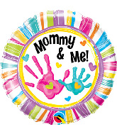 "18"" Mommy and Me Handprints Balloon"