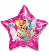 "32"" Star Secret Wings Fuchsia Balloon"