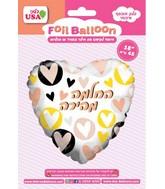 "18"" Get Well Soon Hearts Foil Balloon"