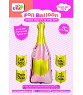 "42"" Champagne Bottle Foil Balloon"