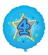 "18"" Standard Blue Stars #4 Foil Balloon"