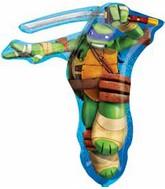 """28"""" Jumbo Teenage Mutant Ninja Turtle TMNT LEONARDO Foil Balloon"""
