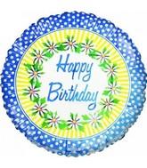 "18"" Happy Birthday Daisy Fun Foil Balloon"