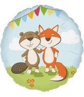 """18"""" Standard """"Fox & Beaver"""" Foil Balloon"""