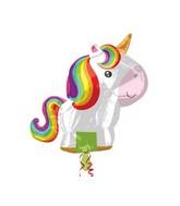 """21"""" Jumbo SuperShape """"Playful Unicorn"""" Foil Balloon"""