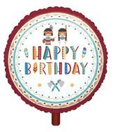 """18"""" Standard """"Tepee & Tomahawk"""" Foil Balloon"""