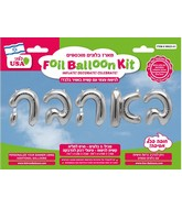 "16"" With Love Hebrew Silver Kit Foil Balloon"